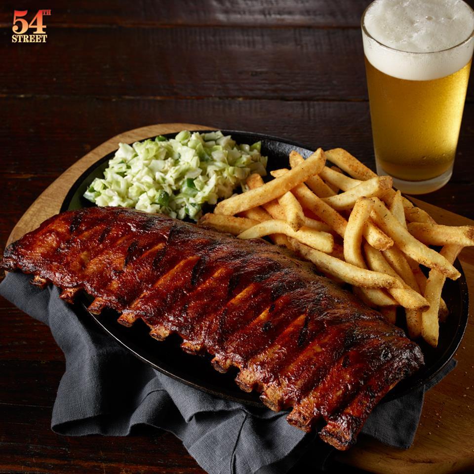 Rib plate at 54th Street Grill