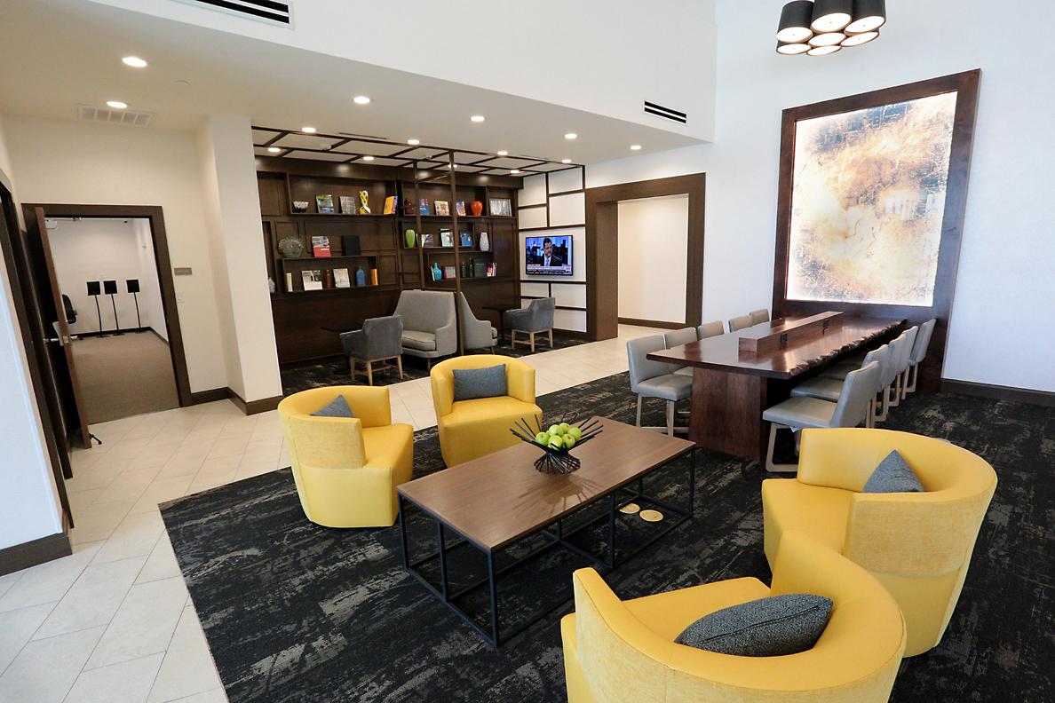 Hyatt lobby in The Colony, TX
