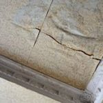 signs of water damage on the ceiling of a home
