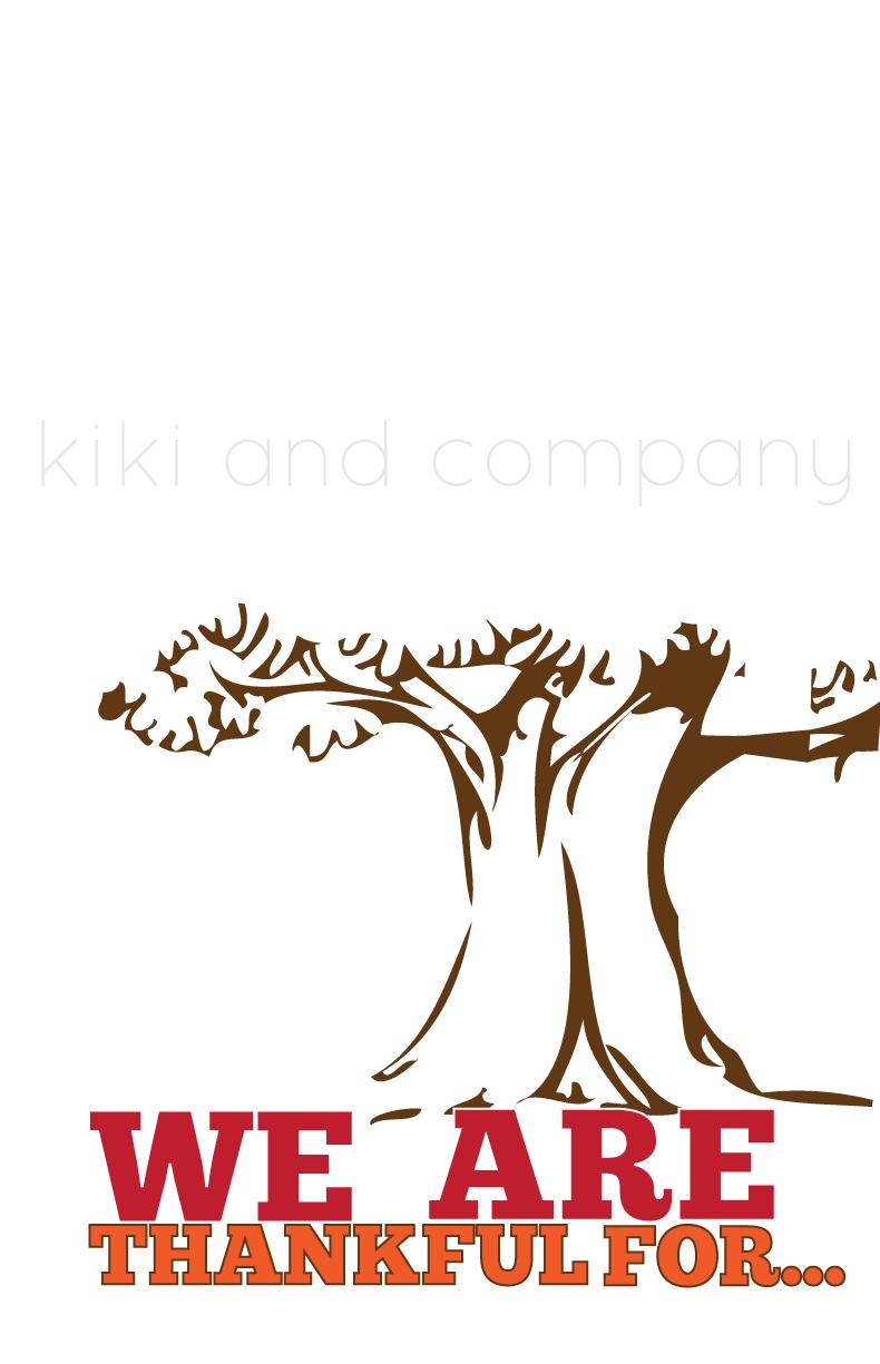 Free Thanksgiving Printable at Kiki and Company
