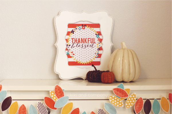 New and FREE Thanksgiving print from kiki and company. #thanksgiving #free