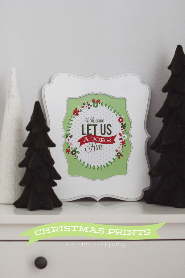 Free Christmas Prints from Kiki and Company.LOVE!
