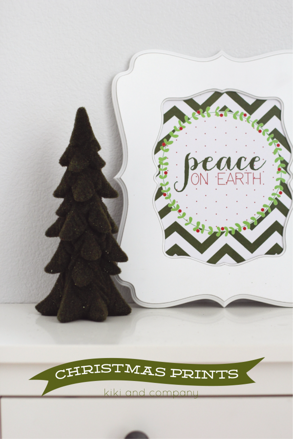 Free Christmas Prints from Kiki and Company.Three designs.