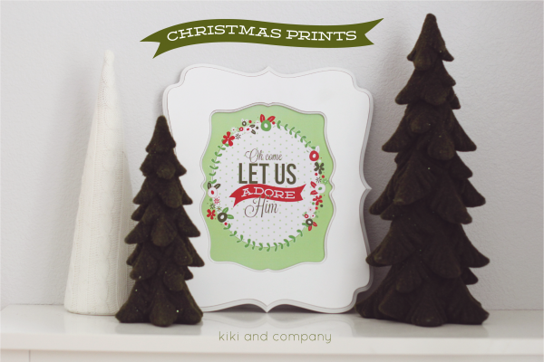 Free Christmas Prints from kiki and company