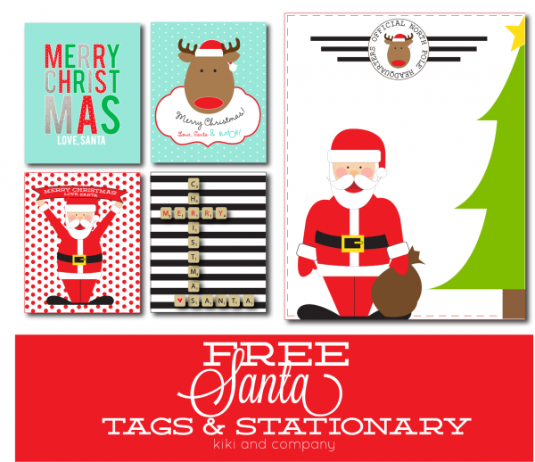 Free Santa Tags and Stationary