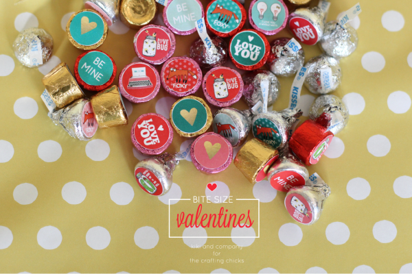 Bite Size Valentines at the crafting chicks. Perfect for Valentines Day