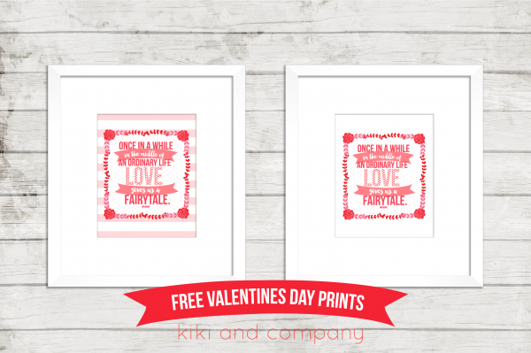 Free Valentines Prints from kiki and company