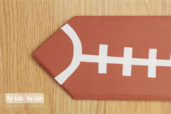 Make your own Origami Football at kiki and company. So perfect for the upcoming Superbowl