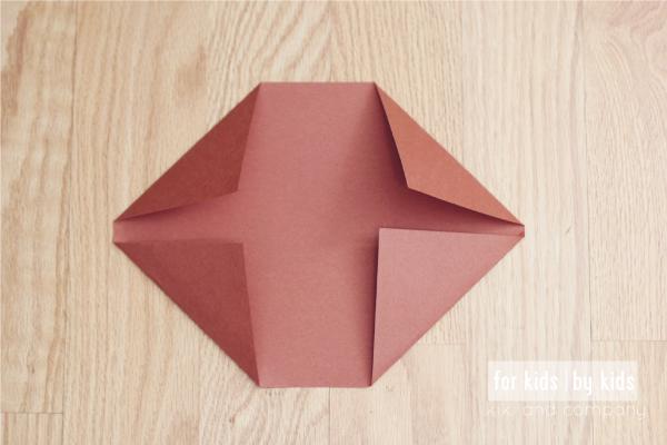 Make your own Origami Football at kiki and company. Step 2