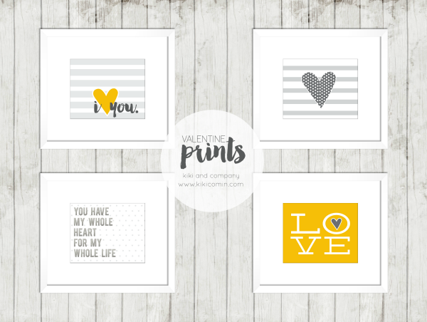 Super fun Valentines or Love prints from kiki and company