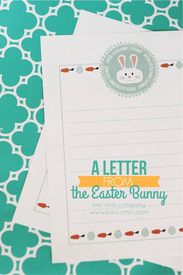 Easter Bunny stationary. SO cute!