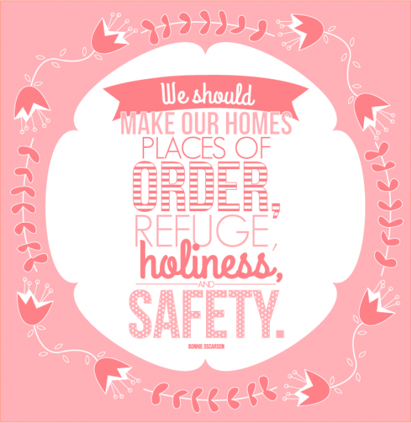 General Womens Meeting- We should make our homes places of order, refuge, holiness and safety
