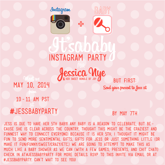 Instagram Baby Shower Invitation