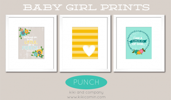 Punch Set of Baby Girl Prints