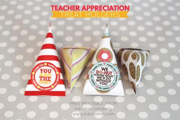 Teacher Appreciation Treat Holders from kiki and company. So fun to use to thank teachers!