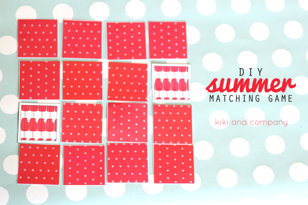 DIY Summer Matching Game. Fun!