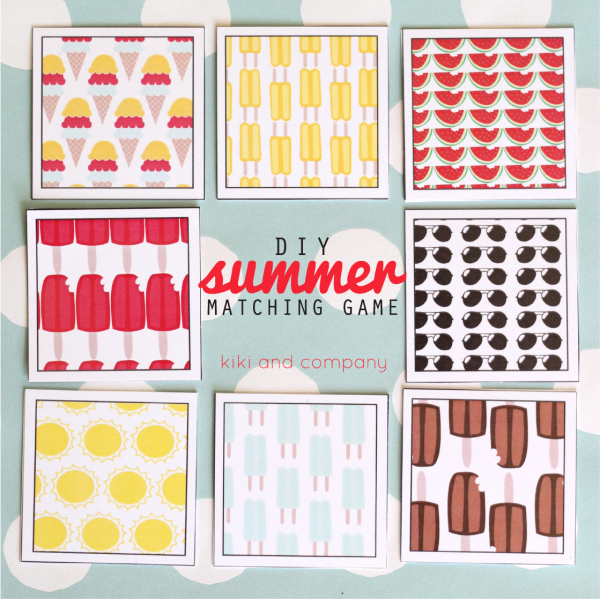 DIY Summer Matching Game. Perfect for car rides!