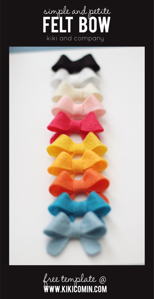 cute-and-simple-felt-bows-at-kiki-and-company.-love-all-those-colors.-free-template.