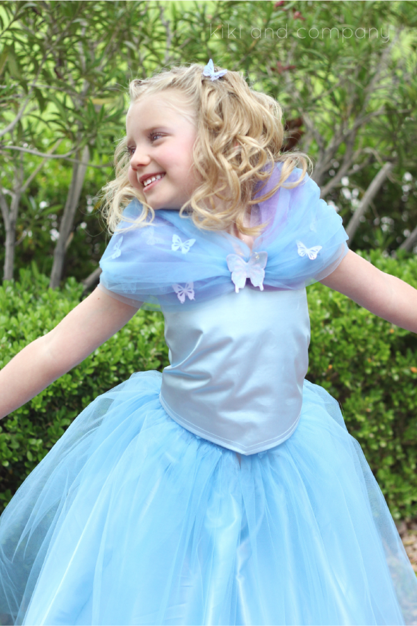 DIY Cinderella Ball Gown Dress Tutorial at kiki and company.Sweet!