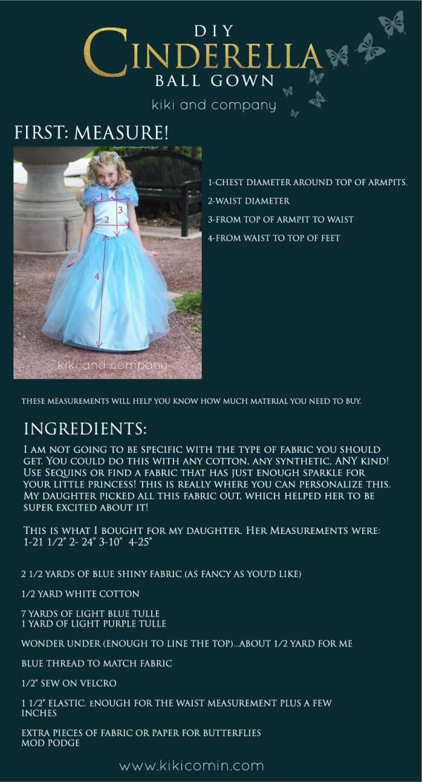 DIY Cinderella Dress Top instructions 1
