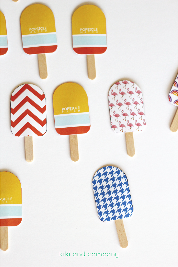 Popsicle Match from kiki and company. LOVE