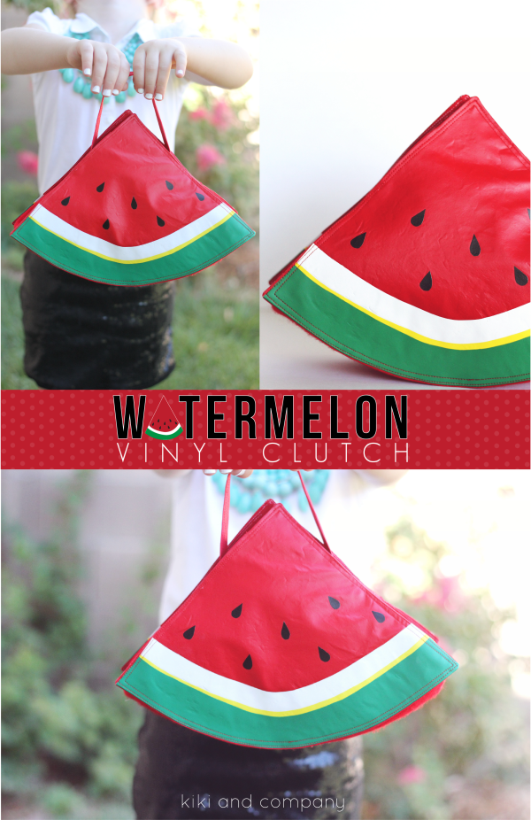 Watermelon Vinyl Clutch from kiki and company. LOVE this!