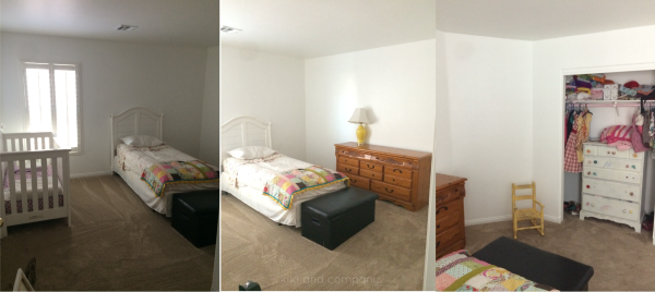 Girl's Room Makeover at Kiki and Company BEFORE pictures