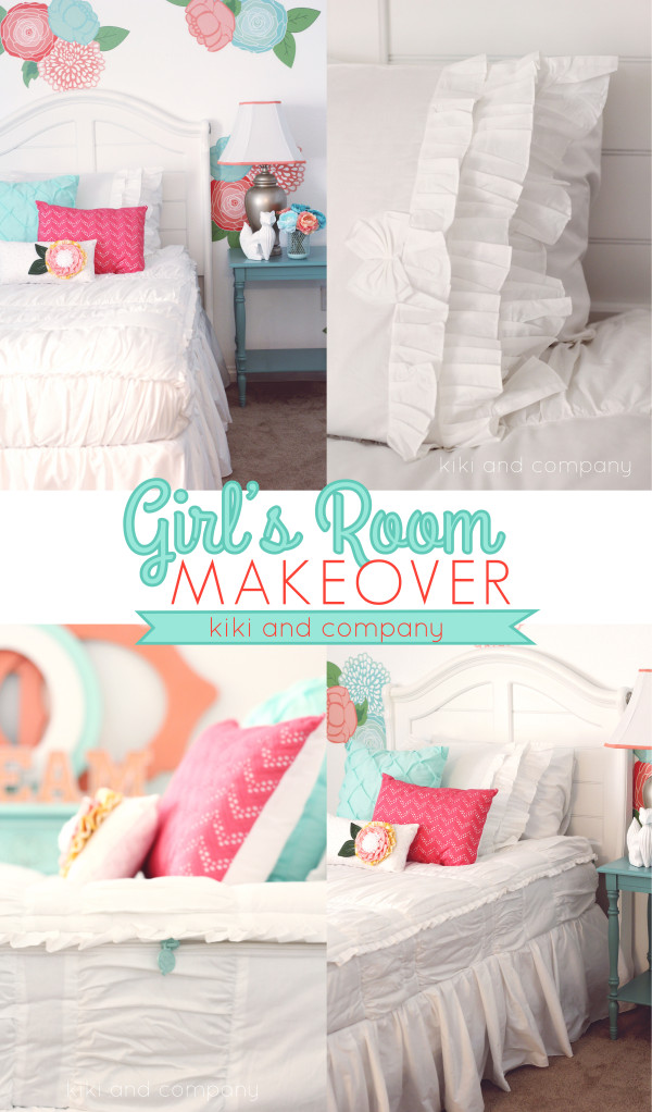 Girl's Room Makeover. LOVE this Beddy's Bedding!