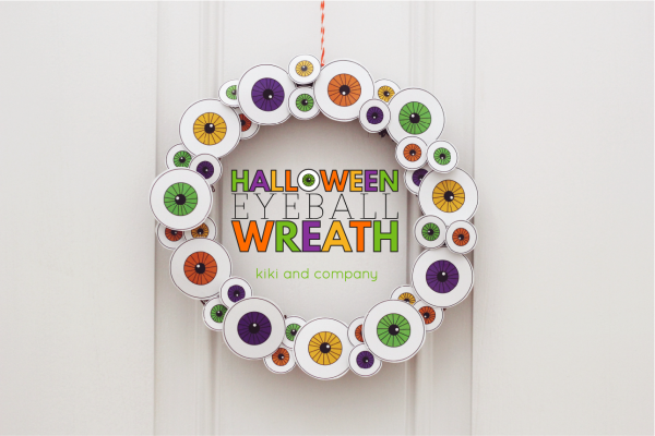 Halloween Eyeball Wreath from kiki and company. LOVE!