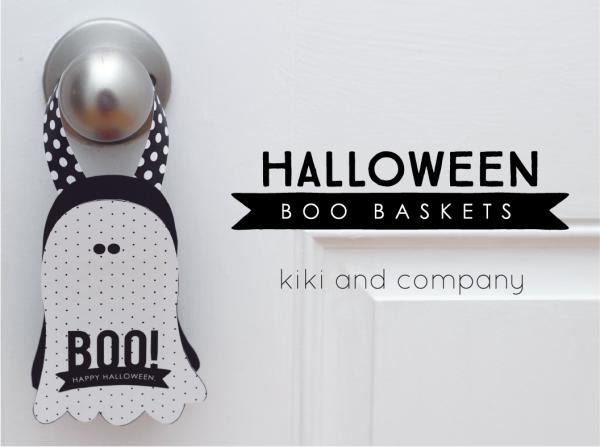 Halloween Boo Baskets from kiki and company, LOVE!