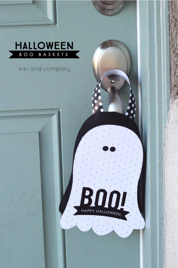Halloween Boo Baskets from kiki and company. These will be so fun to use!