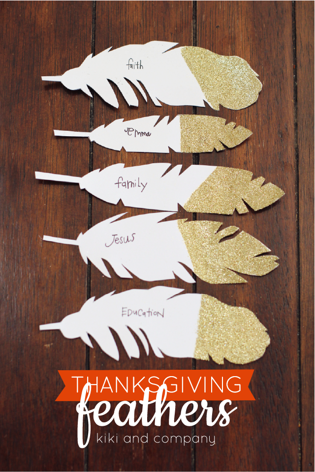 Thanksgiving Feathers free printable from kiki and company