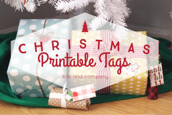 Christmas Printable Tags from kiki and company.