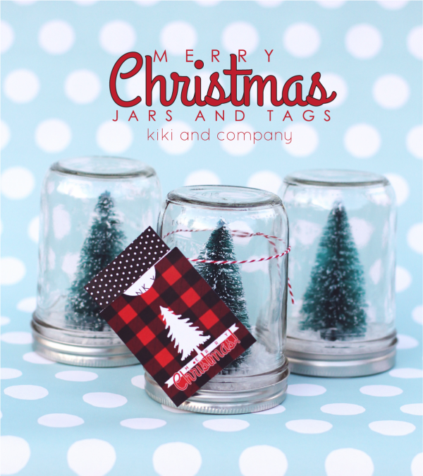 Merry Christmas Jars and Tags from kiki and company