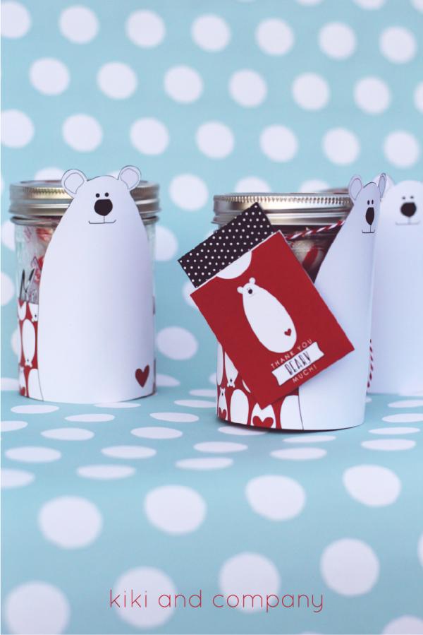 Polar Bear Jar and Tags. Love these!