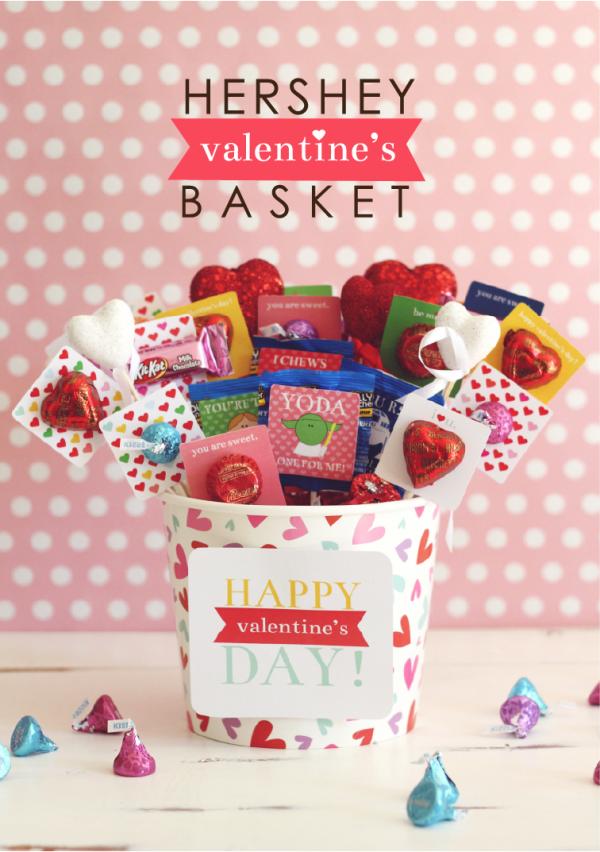 Hershey Valentine's Basket at kiki and company