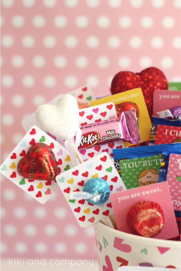 Hershey Valentine's Basket at kiki and company. LOVE!