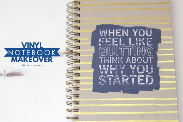 Vinyl Notebook Makeover with Expressions Vinyl