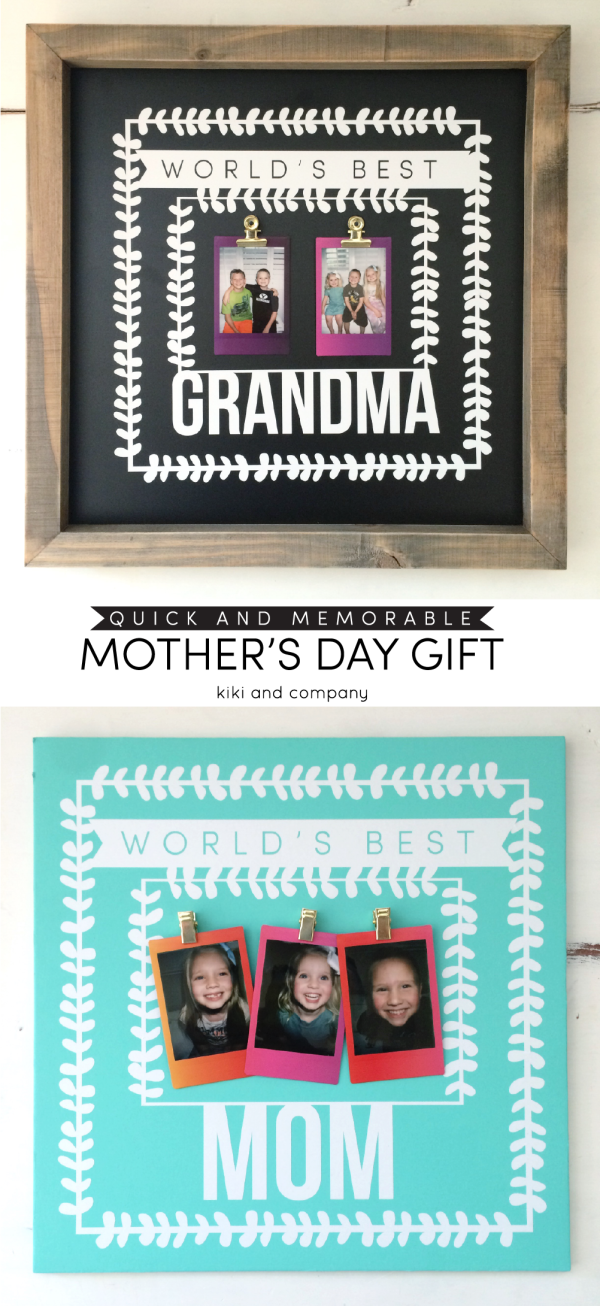 Quick and Memorable Mothers Day Gift from kiki and company