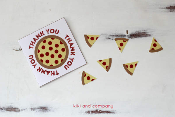 Teacher Appreciation Pizza Box Card from kiki and company. FUN!