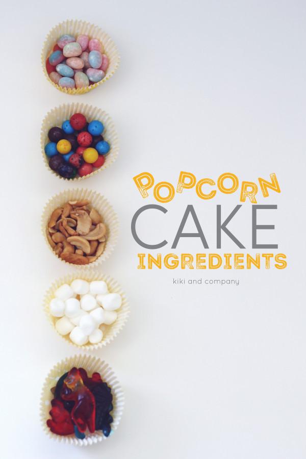 Popcorn Cake ingredients