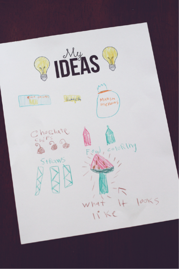 My Ideas Worksheet. Perfect for kids.