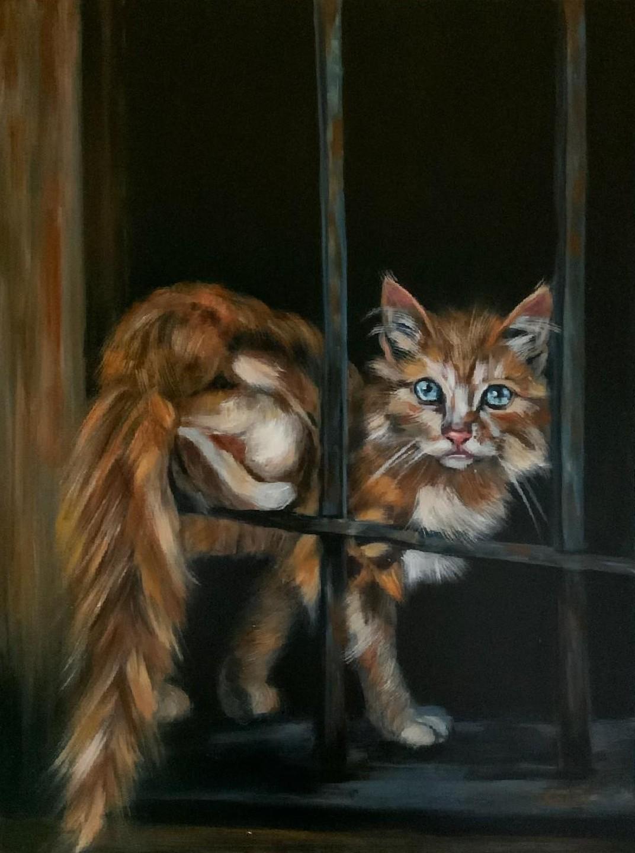 Looking Back - Lolli Hollsten - 18'' x 24'' - Acrylic on Canvas