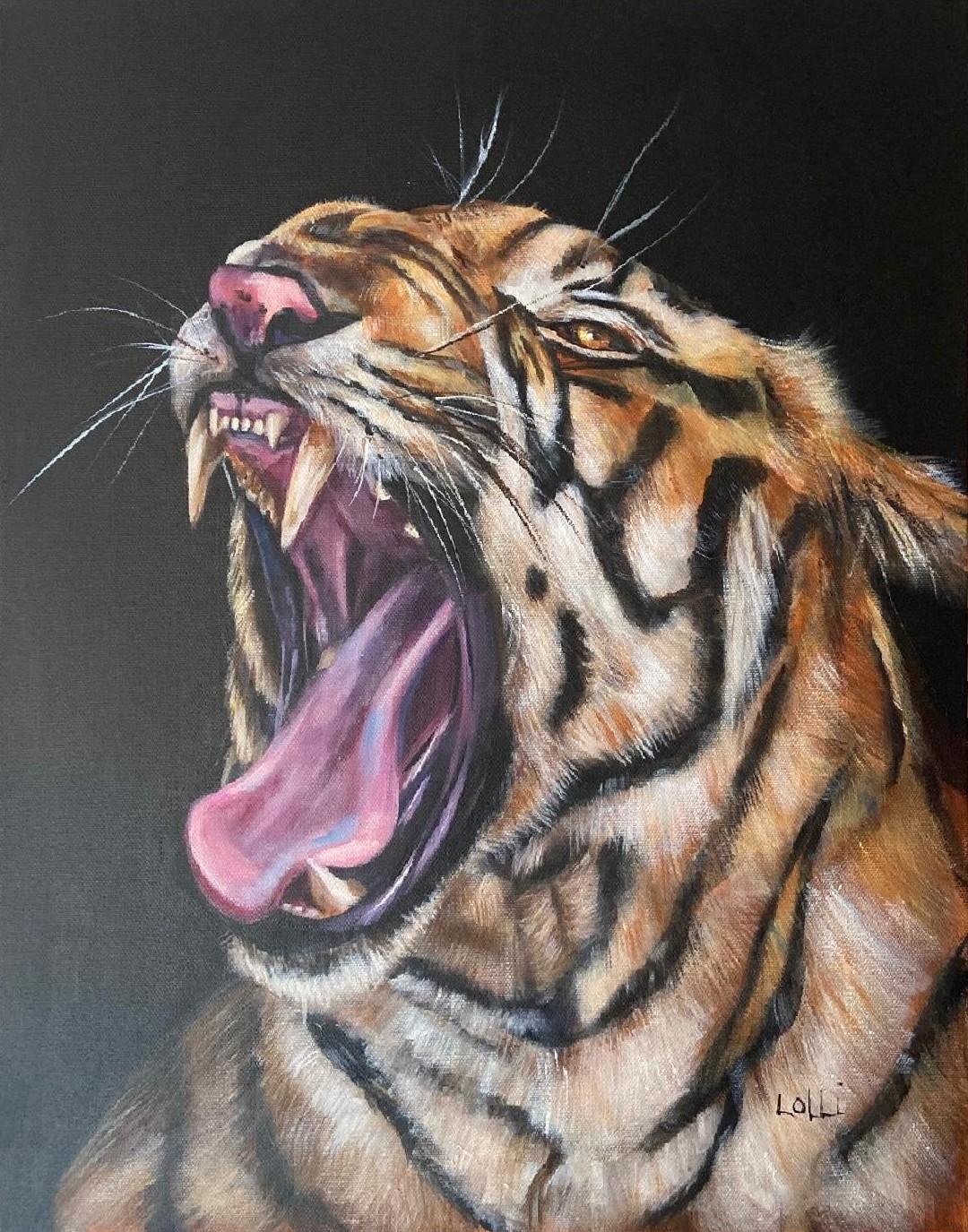 Bad Mood - Lolli Hollsten - 16'' x 20'' - Acrylic on Canvas