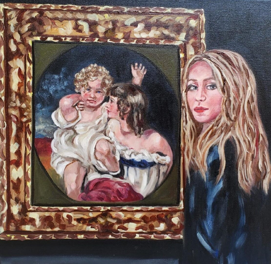 Admiration - Lolli Hollsten - 20'' x 20'' - Oil on Canvas