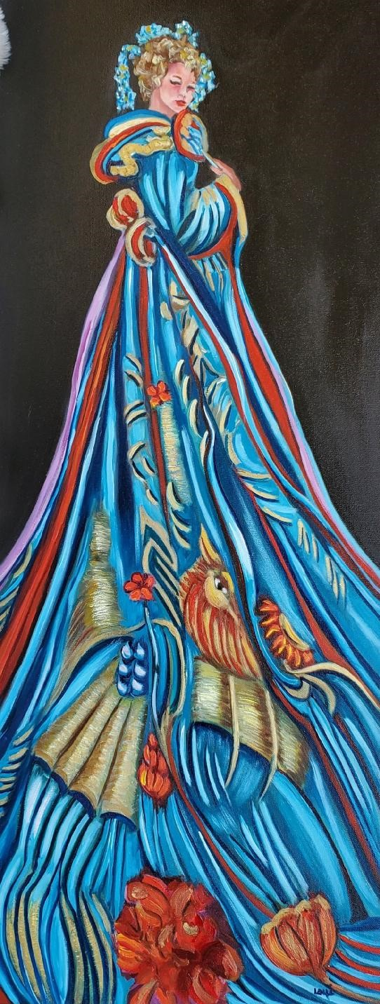 All Dressed Up - Lolli Hollsten - 16'' x 40'' - Oil on Canvas