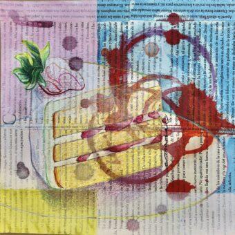 Mi Cumpleaños / My Birthday - Angeles Salinas - 8'' x 8'' - Mixed Media on Paper