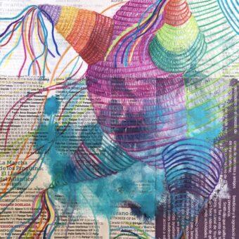 Posadas - Angeles Salinas - 8'' x 8'' - Mixed Media on Paper