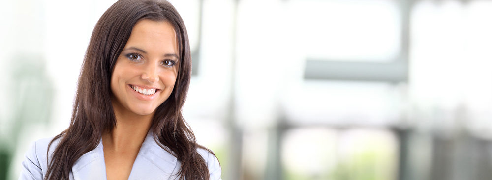 professional woman with nice smile