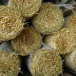 Straw Blankets - Straw with plastic reinforcement, 8' wide x 112' long or 4' x 50'